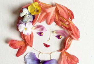 Картины из цветов и лепестков