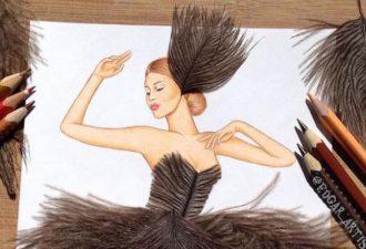 необыкновенные дизайны платьев