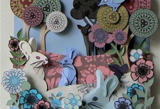 декоративные объемные панно из бумаги