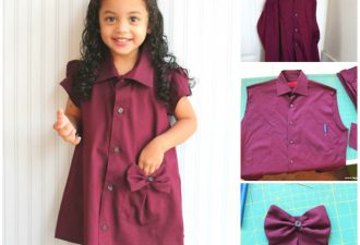 Детские платья из мужских рубашек