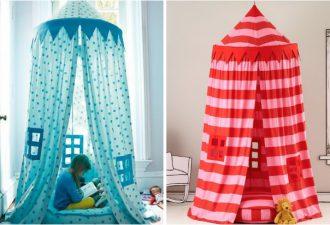 Как создать детский шатер своими руками