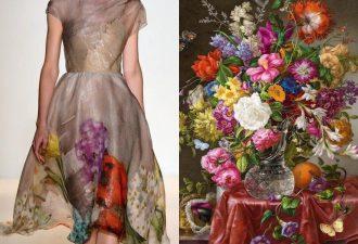 Платья с узорами