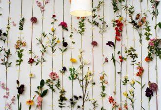 цветочное декорирование стен