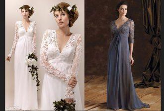 Вечернее или свадебное платье в пол с выкройками