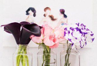 Цветочные фантазии из бутонов от Lim Zhi Wei