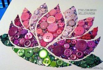 Вдохновляющие картины из пуговиц от разных мастеров