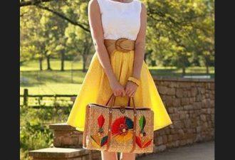Простейшая юбка из одной детали с выкройками