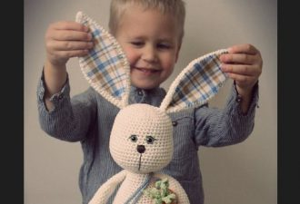Вязание зайца