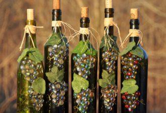 Простой и эффектный декор бутылок своими руками: 12 идей