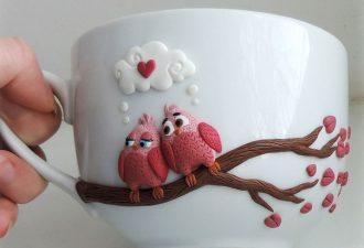 Зверятки на чашках: умилительный декор, который можно сделать своими руками