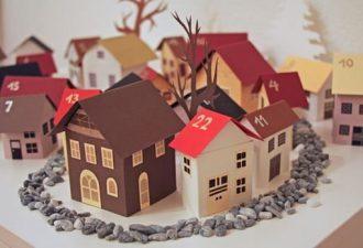 Бумажные домики своими руками с шаблонами: творим красоту