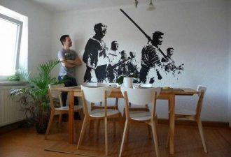 Креативный способ нарисовать картину на стене, даже если вы не художник