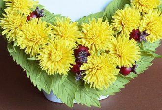 Прекрасные цветочные колье для ярких особ на любой случай