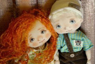 Милые куклы-девчушки от талантливого мастера Елены Симоновой