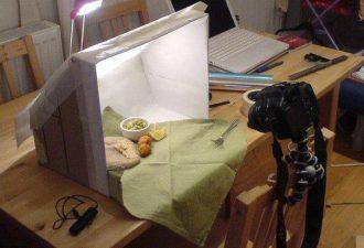 Лайтбокс из картонной коробки для фотографирования своих работ
