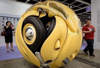 Идеальная форма машины - шар или странные инсталляции