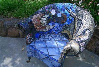 12 идей сногсшибательного оформления сада мозаикой