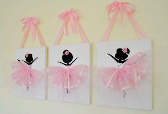 Объёмные панно с балеринами - идеи декора для детской