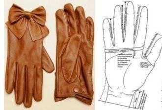 Стильные перчатки своими руками на любую руку с выкройками