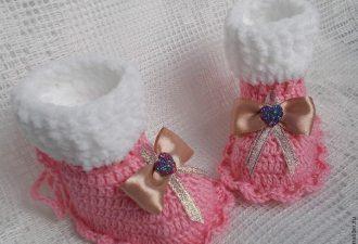 Сказочные пинетки для малышки своими руками