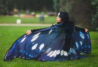 Волшебные платки в форме крыльев бабочки от испанского дизайнера