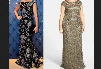 Вечернее платье в пол с выкройками на все размеры