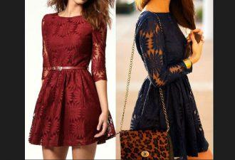 Изящное кружевное платье с выкройками на все размеры (36-50)
