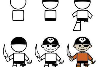Как нарисовать 6 персонажей пошагово с инструкциями