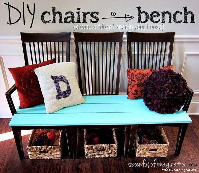 Идеи перевоплощения старых стульев в новую мебель