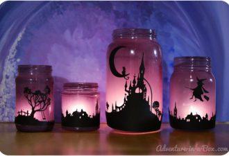 5 светящихся идей своими руками для Хэллоуина: подсвечники и не только