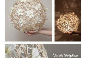 Простой и креативный светильник своими руками из подручных материалов