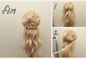 8 простых праздничных причёсок своими руками