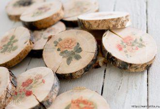 Оригинальные деревянные подставки под горячее своими руками