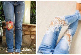 Идеи стильных заплаток, если образовалась дырка на джинсах