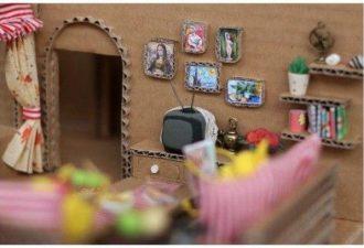 Уютный картонный домик во всех подробностях: вдохновляющее творчество