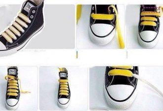 7 способов стильно зашнуровать любимые кроссовки