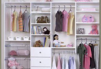 12 идей открытого гардероба для детской комнаты