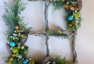 Новогоднее панно - альтернатива традиционному новогоднему венку