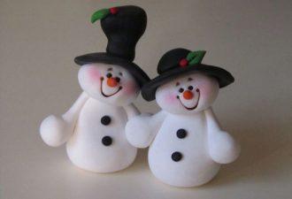 15 милейших снеговичков своими руками: лепим из полимерной глины и пластилина
