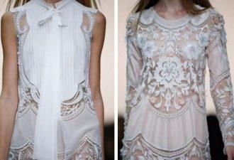 Белая одежда с кружевными вставками: так одеваются богини