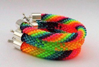 10 схем для плетения браслетов из бисера своими руками