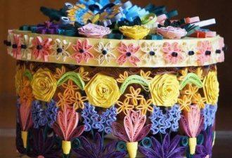10 ваз и не только в технике квиллинг: стильные сувениры из бумаги
