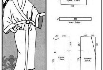 Женский махровый халат с выкройками: создаём нательный уют