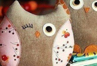 Уютные подушки-совы своими руками с выкройками