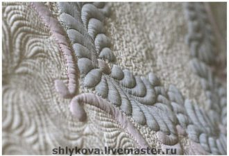 Невероятная работа в технике шадоу-трапунто: виртуозная вышивка на машинке