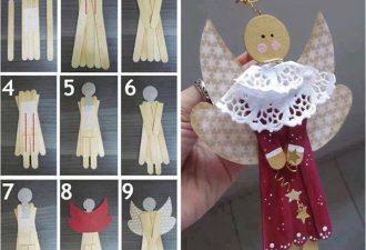 Ангелочки из разных материалов своими руками: коллекция идей