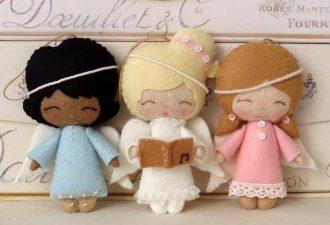 Ангелочки своими руками из фетра: коллекция идей и выкроек