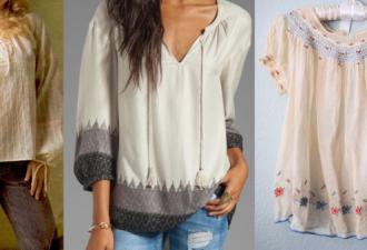 Легкая блуза с элегантной отделкой своими руками + выкройки