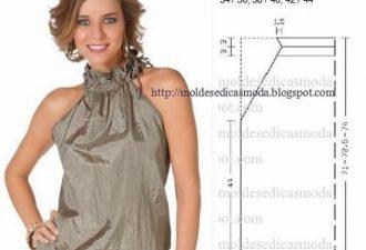 7 простых блузок с выкройками своими руками