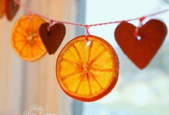 10 шикарных и простых идей новогоднего декора из цитрусовых